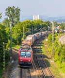 Swiss freight train in Germany Stock Images