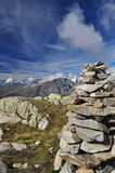 Swiss glacier Jungfrau - Aletsch, Switzerland. Royalty Free Stock Images