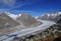 Swiss glacier Jungfrau - Aletsch, Switzerland. Stock Photography