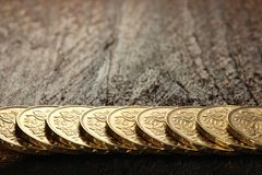 Swiss gold coins Stock Photo