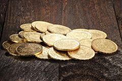 Swiss gold coins Stock Images