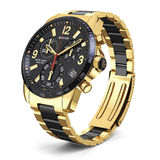 Swiss golden wrist watch Stock Photos