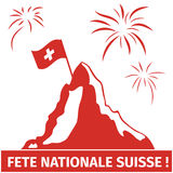 Swiss. Greeting card image for Switzerland national day Royalty Free Stock Images