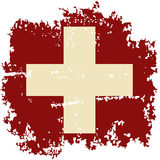 Swiss grunge flag. Vector illustration. Royalty Free Stock Image