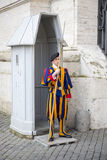 Swiss guard at the post Stock Images