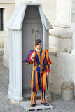 Swiss Guard standing Stock Images