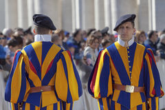 Swiss guard in uniform Royalty Free Stock Image
