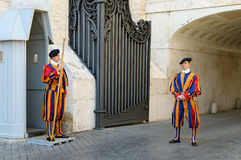 Swiss Guard at Vatican Royalty Free Stock Photography