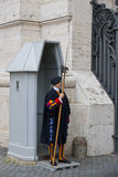 Swiss Guard in Vatican Stock Images