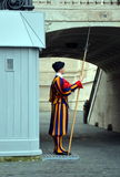 Swiss Guard in Vatican Royalty Free Stock Photo
