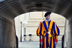 Swiss Guard in Vatican royalty free stock images