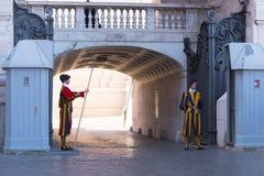 Swiss guard at vatican city Stock Images