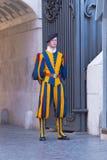 Swiss guard at vatican city Stock Photos