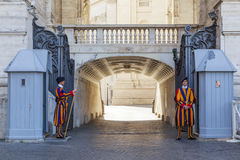 Swiss guard, Vatican City Royalty Free Stock Images
