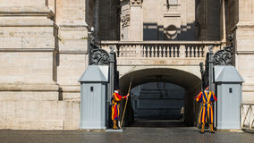 The Swiss Guard at Vatican City State Stock Image