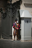 Swiss Guard in a Vatican Hallway. Stock Photos