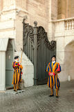 Swiss Guard at the Vatican Royalty Free Stock Photos
