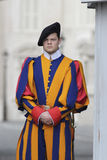 Swiss guard in Vatican Stock Photography