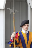 Swiss guard in Vatican Royalty Free Stock Photos