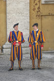 Swiss Guard,Vatican, Rome, Italy. Swiss Guard , Vatican City, Rome, Italy. Swiss Guard provide security  for  Vatican and Holy Farther Royalty Free Stock Photography