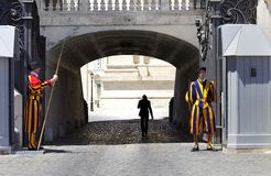 Swiss Guard at Vatican Royalty Free Stock Image