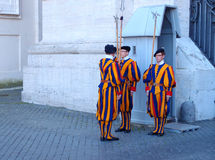Swiss Guards Stock Photography
