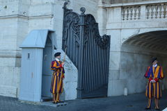 Swiss guards of Pope Royalty Free Stock Photo