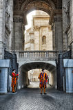 Swiss Guards, Vatican City, Italy. Swiss Guard in Vatican City.The military that care about the safety of the Pope stock image