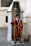 Swiss guardsman in the Vatican city Stock Images