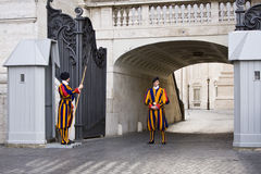 Swiss Guardsmen Royalty Free Stock Image
