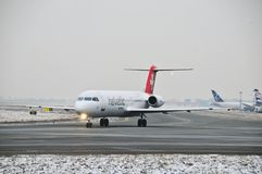 Swiss helvetic aircraft Stock Photography
