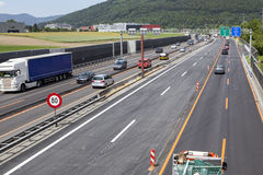 Swiss highway, construction site Stock Photography