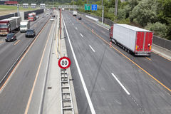 Swiss highway, construction site Royalty Free Stock Photos