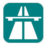 Swiss highway icon Royalty Free Stock Image
