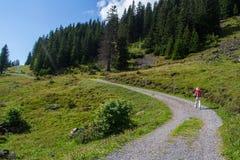 Swiss hiker Stock Image