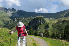 Swiss hiker Royalty Free Stock Photo
