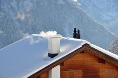 Swiss holiday cottage Royalty Free Stock Photography