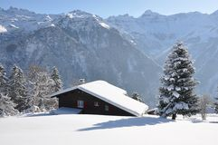 Swiss holiday cottage royalty free stock image
