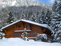 Swiss Holiday Cottage Stock Photography