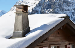 Swiss holiday cottage royalty free stock photo