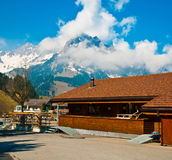 Swiss holiday cottages Royalty Free Stock Images