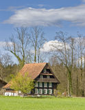 Swiss house. Typical insulated wooden swiss house Stock Images