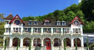 Swiss House in Lucerne Stock Images