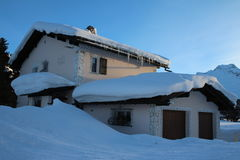 Swiss House in Winter Stock Photo