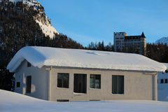 Swiss House in Winter Royalty Free Stock Photography