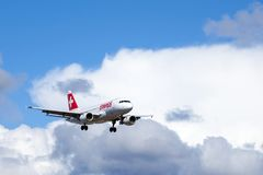 Swiss International Air Lines, Aerobus A319 - 112 fotografia stock