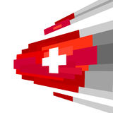 Swiss international day background. Switzerland Independence Day. Switzerland flag Vector Illustration