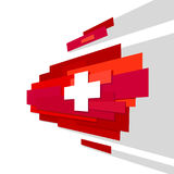 Swiss international day background. Switzerland Independence Day. Switzerland flag Stock Illustration
