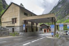 At Swiss-Italian border Stock Photo
