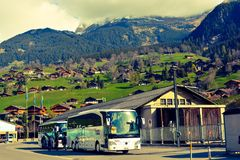 Swiss journey Stock Photo